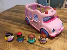Fisherprice little people bus and aeroplane with noises