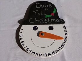 count down to christmas snowman