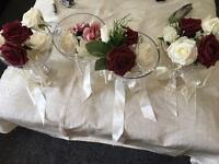 4 wedding table vases