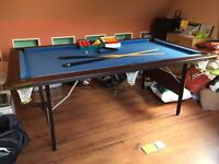 Folding snooker / pool table 7ft x 4ft very good condition