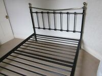 FOR SALE ALL METAL DOUBLE BED FRAME. VERY GOOD CONDITION £ 65.00.
