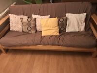 Three seat futon x 2