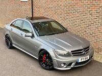 2008 [58] MERCEDES C CLASS C63 6.3 7G AMG AUTO SALOON SILVER 550 BHP STAGE 2
