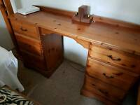 Solid pine desk