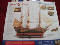 HMS Victory naval wooden model ship - magazines all unopened