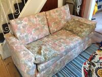 Double Sofabed: good condition, flowery cover - can remove