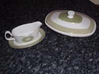 Royal Doulton Bone China Sonnet Vegetable Dish and Gravy Boat