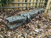 Chainsaw carved wooden crocodile from sustainably-sourced Yorkshire larch, pre-stained