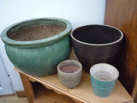 bundle ceramic plant pots various sizes