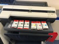 Canon imagePROGRAF iPF610 A1 & AO size Quality Printer plus full set unused ink cartridges