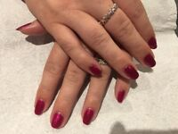 Acrylic nails extensions and gel polish
