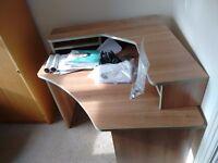 Ferrera Oak Effect Corner Desk