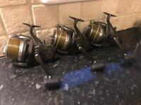 3 x Shimano lc baitrunner Reels carp fishing