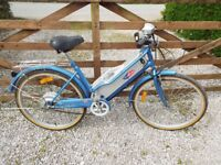 ELECTRIC BICYCLE - POWABYKE - METALLIC BLUE COLOUR SUPERB CONDITION (new Battery pack just fitted).