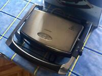 BRAND NEW COOKWORKS STAINLESS STEEL TOASTER HOT SANDWICH PANINI MACHINE