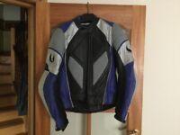 "Genuine Belstaff leather motorcycle jacket. Size 44""."