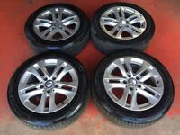 16'' GENUINE MERCEDES C CLASS W204 ALLOY WHEELS AND TYRES