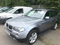 BMW X3 2007 ** DIESEL ** LEATHER SEATS ** PARKING SENSORS ** 12 MONTH MOT ** 2 KEYS X5