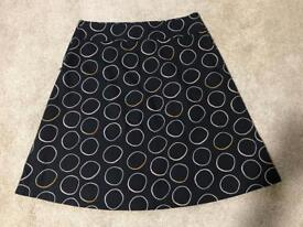 Brand new white stuff coffee cup reversible skirt size 12