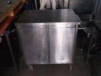 Stainless steel mobile G/N tray storage unit commercial catering trolley cabinet