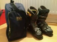 Salomon Evolution Series Mens Ski Boots and Bag