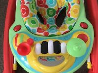 Mothercare baby walker with musical instruments, as new
