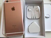 IPhone 6s rose gold 16gb ( unlocked) any network