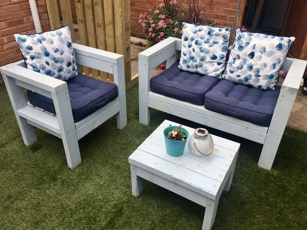 Garden furniture set. Bench,chair & table. Inc cushions  in Liverpool,  Merseyside  Gumtree