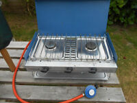 Camping Gaz Stove , 2 Burner and Grill
