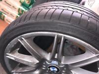 "BMW 19"" alloys rims with tyres 255/30 19"