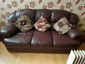 Stunning 2x leather sofa # bargain