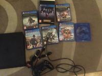 Ps4 slim with controller and games
