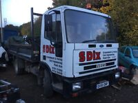 Iveco tector tipper dropside flatbed 51 Reg 7.5 tonne choice of 2 no vat driveway ready for work