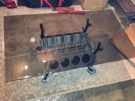 V8 Engine coffee table, Land Rover Defender engine