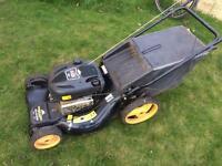 Petrol lawn mower self propelled