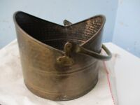Vintage brass coal bucket for sale.