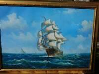 Fulton ship oil painting