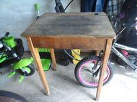 Wooden vintage children's school desk in original condition