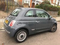 Fiat 500 Lounge, petrol and manual, dark grey, mileage 15k, pristine condition.