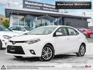 2014 TOYOTA COROLLA LE PLUS PKG |CAMERA|ROOF|LEATHER|WARRANTY