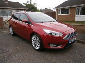 Low Mileage (6500) Ford Focus Red Petrol Titanium X Estate EcoBoost (125PS)