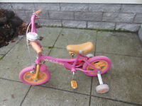 FREE Kids Barbie Bike with stabilisers