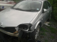 nissan primera, 2.2 diesel. engine and gearbox good, still lot of parts left