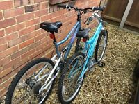 Two ladies bikes for sale