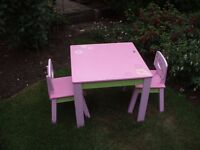 Child's Table and Chairs.