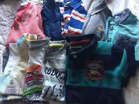 Kids tops aged 4-6 various labels inc Kangol, GAP