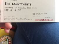4 x The Commitments tickets Theatre Royal Glasgow 17/12/2016