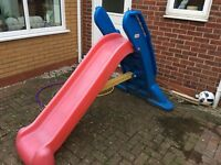 little tikes giant slide- red and blue, built in handles for support