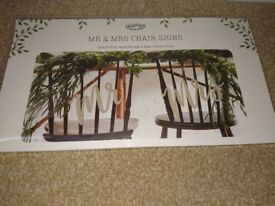 GINGER RAY wedding Mr and Mrs chair signs