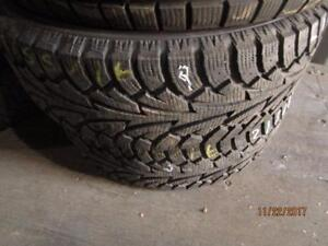 215/65R16 2 ONLY USED HANKOOK WINTER TIRES